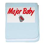 USAF Major Baby baby blanket