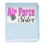 Air Force Sister baby blanket