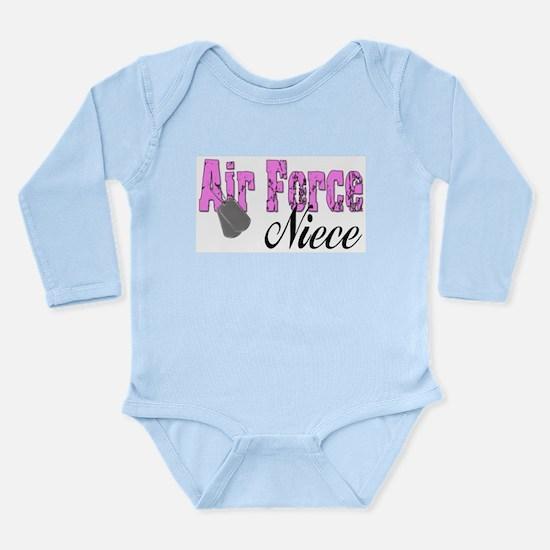 Air Force Niece Long Sleeve Infant Bodysuit