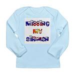 Missing my Airman Long Sleeve Infant T-Shirt