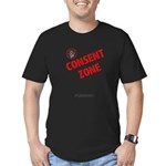 Consent Zone - Fitted T-Shirt (dark)