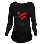 Consent Zone - Long Sleeve Maternity T-Shirt