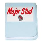 USCG Major Stud baby blanket