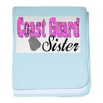 Coast Guard Sister baby blanket