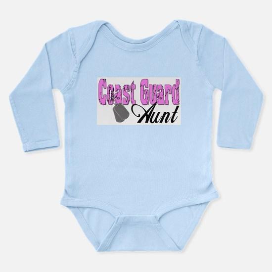 Coast Guard Aunt Long Sleeve Infant Bodysuit