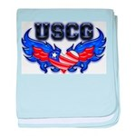 USCG Heart Flag baby blanket