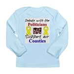 Debate Politicians Support ou Long Sleeve Infant T