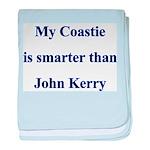 My Coastie is smarter than Jo baby blanket