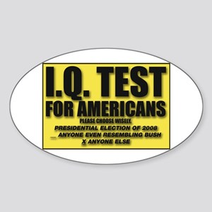 IQ Test Oval Sticker