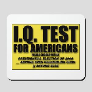 IQ Test Mousepad