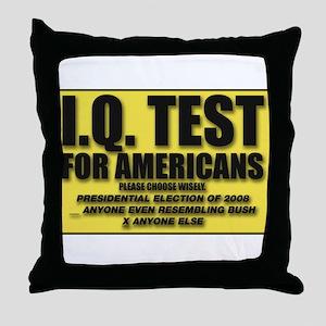 IQ Test Throw Pillow