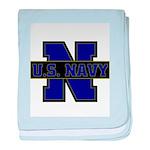 US Navy baby blanket