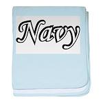 Black and White Navy baby blanket