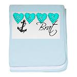 Navy Brat hearts ver2 baby blanket