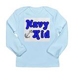 Navy Kid (blue) Long Sleeve Infant T-Shirt
