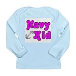 Navy Kid (pink) Long Sleeve Infant T-Shirt