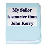My Sailor is smarter than Joh baby blanket