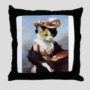 Miss Kitty Throw Pillow