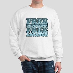 Free Information Free Assange Sweatshirt