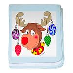 Christmas Reindeer baby blanket