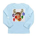 Christmas Reindeer Long Sleeve Infant T-Shirt