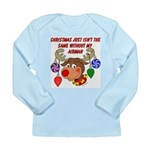 Christmas without my Airman Long Sleeve Infant T-S