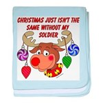 Christmas without my Soldier baby blanket