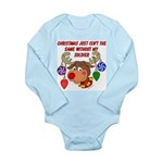 Christmas without my Soldier Long Sleeve Infant Bo