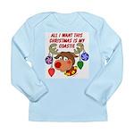 Christmas I want my Coastie Long Sleeve Infant T-S