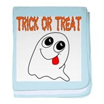 Trick or Treat Ghost baby blanket