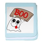 Ghost Boo baby blanket