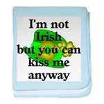 Not Irish Kiss Me Hat baby blanket