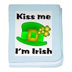 Kiss Me I'm Irish Hat baby blanket
