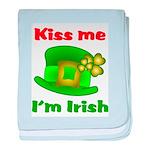 Kiss Me I'm Irish Hat ver2 baby blanket