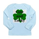 Cute and Lucky Shamrock Long Sleeve Infant T-Shirt