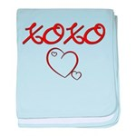 XOXO Heart baby blanket