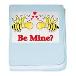 Be Mine Bees baby blanket