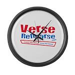 Verse Rehearse Large Wall Clock