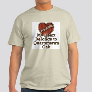 """Quartersawn Oak"" Light T-Shirt"
