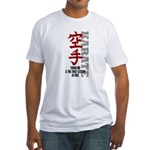 First karate lesson is free Fitted T-Shirt