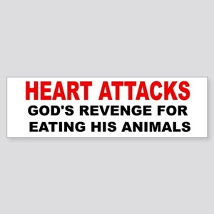 Heart Attacks Sticker (Bumper)