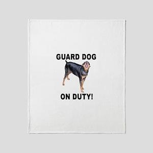 Helaine's GUARD DOG Throw Blanket