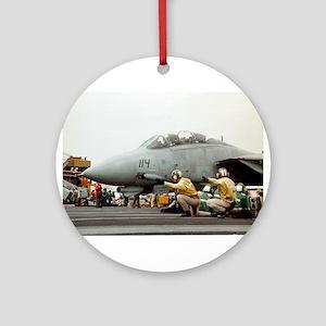 F14B Tomcat From the USS Kitt Ornament (Round)