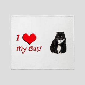 Helaine's Elvis the Cat Throw Blanket