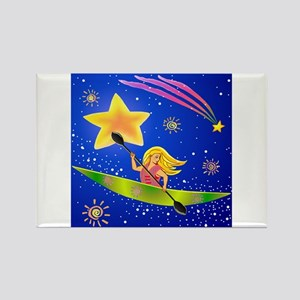 Star Kayaker Rectangle Magnet