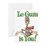 Le Guru is You! Greeting Cards (Pk of 10)