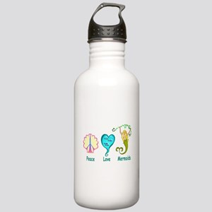 Peace,Luv,Mermaids Stainless Water Bottle 1.0L