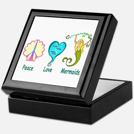 Peace,Luv,Mermaids Keepsake Box