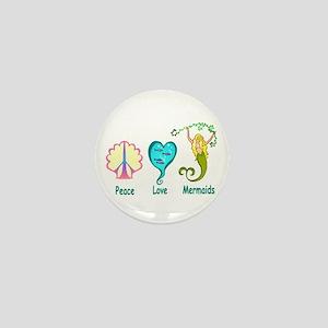Peace,Luv,Mermaids Mini Button