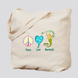 Peace,Luv,Mermaids Tote Bag